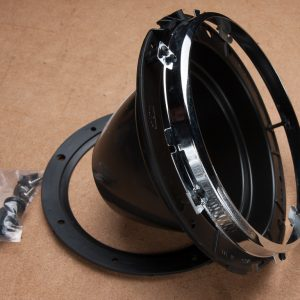Headlamp Bowl (Plastic) with Chrome Retaining Ring and Rubber Gasket
