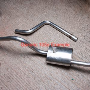 Estate 1198 Rear Silencer Section – Stainless Steel
