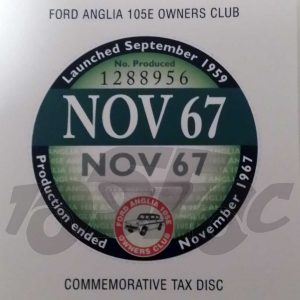 Commemorative Tax Disc