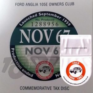 Commemorative Tax Disc & Holder